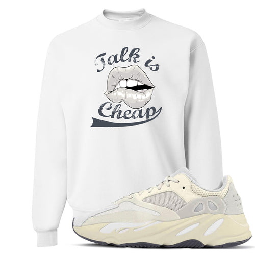 Yeezy Boost 700 Analog Sneaker Match Talk Is Cheap White Crewneck Sweater