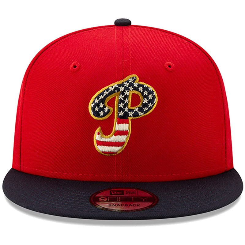 Philadelphia Phillies Stars and Stripes 2019 Fourth Of July On Field 9FIFTY Snapback Cap