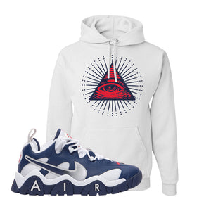 Air Barrage Low USA Hoodie | White, All Seeing Eye