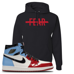 Air Jordan 1 Fearless Fear Crossed Out Black Made to Match Pullover Hoodie