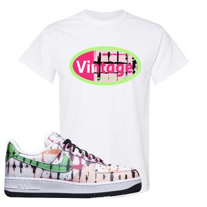 Air Force 1 Low Multi-Colored Tie-Dye T Shirt | White, Vintage Oval
