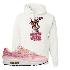 Air Max 1 Strawberry Lemonade Pullover Hoodie | Dont Hate The Playa, White