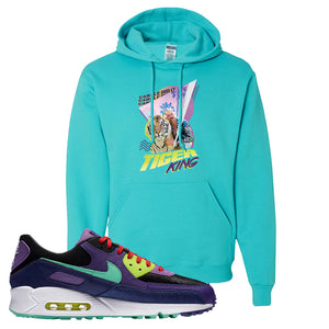 Air Max 90 Cheetah Hoodie | Retro Tiger King, Scuba Blue