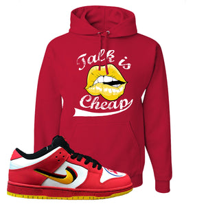 Nike Dunk Low Vietnam 25th Anniversary Pullover Hoodie | Talk Is Cheap, Red