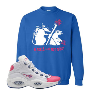 Question Mid Pink Toe Sweatshirt | Army Rats, Royal