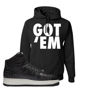 Air Force 1 High Hotline Hoodie | Got Em, Black