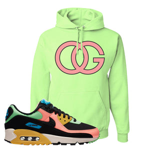 Furry Air Max 90 Bright Neon Pullover Hoodie | OG, Neon Green