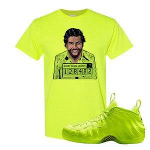 Air Foamposite Pro Volt T Shirt | Escobar Illustration, Safety Green
