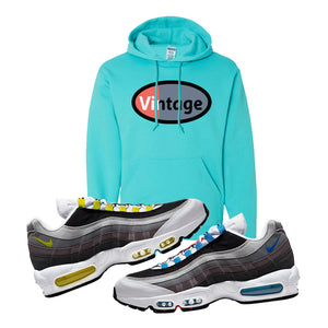 Air Max 95 QS Greedy Hoodie | Scuba Blue, Vintage Oval