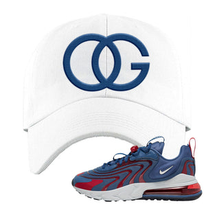 Air Max 270 React ENG Mystic Navy Dad Hat | OG, White