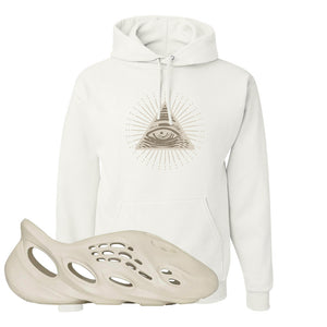 Yeezy Foam Runner Sand Hoodie | All Seeing Eye, White