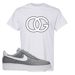 Air Force 1 Low Wolf Grey White T Shirt | Ash, OG