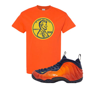 Foamposite One OKC T Shirt | Orange, Penny