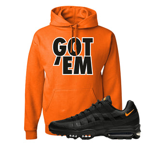 Air Max 95 Ultra Spooky Halloween Pullover Hoodie | Got Em, Safety Orange