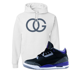 Air Jordan 3 Court Purple Hoodie | OG, White
