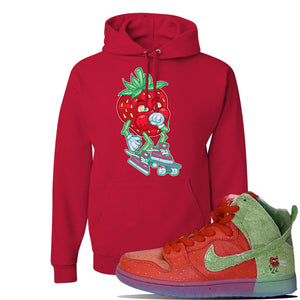 SB Dunk High 'Strawberry Cough' Hoodie | Red, Coughing Berry