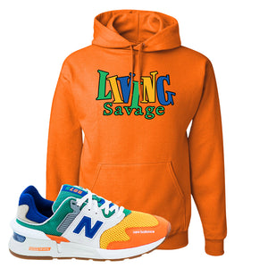 997S Multicolor Sneaker Safety Orange Pullover Hoodie | Hoodie to match New Balance 997S Multicolor Shoes | Living Savage