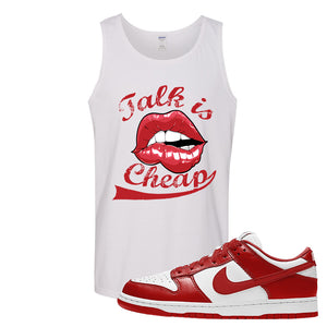 SB Dunk Low St. Johns Tank Top | Talk Is Cheap, White