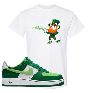 Air Force 1 Low St. Patrick's Day 2021 T Shirt | Leprechaun, White