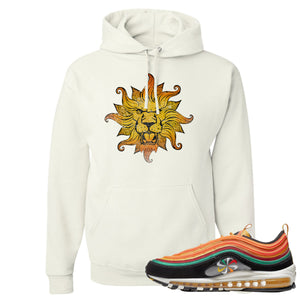 Air Max 97 Sunburst Sneaker Hook Up Vintage Lion Head White Pullover Hoodie