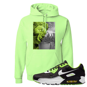 Air Max 90 Exeter Edition Black Hoodie | Miguel, Neon Green