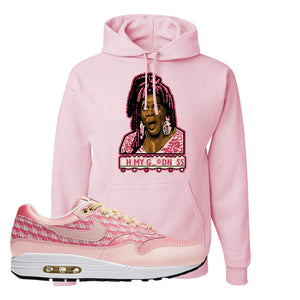 Air Max 1 Strawberry Lemonade Pullover Hoodie | Oh My Goodness, Light Pink