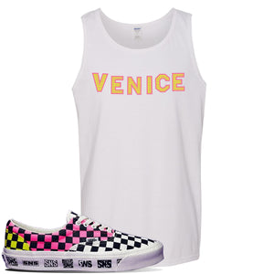 Vans Era Venice Beach Pack Tank Top | White, Venice Sign
