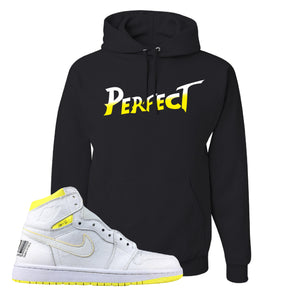 Air Jordan 1 First Class Flight Street Fight Perfect Black Sneaker Matching Pullover Hoodie