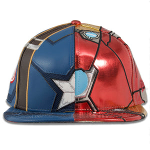 Marvel Iron Man vs Captain America The Avengers Glow In The Dark 59Fifty Fitted Cap
