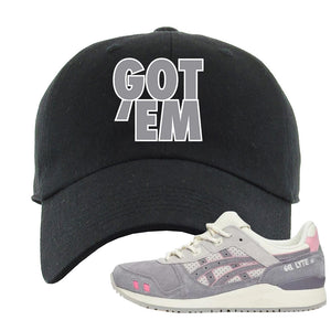 END x Asics Gel-Lyte III Grey And Pink Dad Hat | Got Em, Black