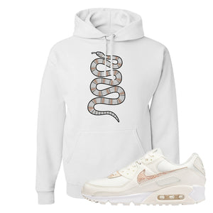 Air Max 90 Beige Snakeskin Hoodie | Coiled Snake, White
