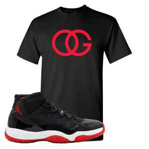 Jordan 11 Bred OG Black Sneaker Hook Up T-Shirt