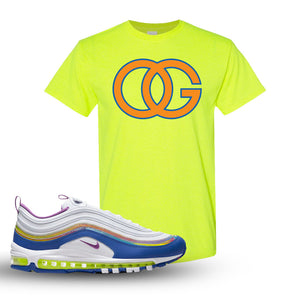 Air Max 97 'Easter' Sneaker Safety Green T Shirt | Tees to match Nike Air Max 97 'Easter'Shoes | OG