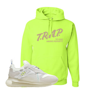 Air Max 720 OBJ Slip White Hoodie | Safety Green, Trap To Rise Above Poverty