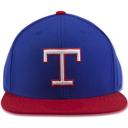 Texas Rangers Throwback Blue on Red Adjustable Snapback Hat