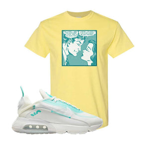 Air Max 2090 Pristine Green T Shirt | Cornsilk, Fake Love Comic
