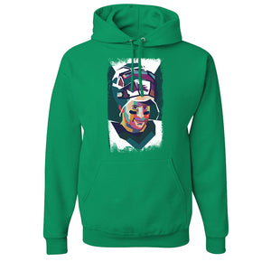 Wentz Mosaic Pullover Hoodie | Carson Wentz Mosaic Kelly Green Pull Over Hoodie the front of this hoodie has the mosaic wentz logo on it