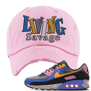 Air Force 1 Low Daisy Distressed Dad Hat | Pink, Living Savage