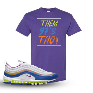 Air Max 97 'Easter' Sneaker Lilac T Shirt | Tees to match Nike Air Max 97 'Easter'Shoes | Them 97's Tho