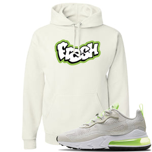 Air Max 270 React Ghost Green Sneaker White Pullover Hoodie | Hoodie to match Nike Air Max 270 React Ghost Green Shoes | Fresh