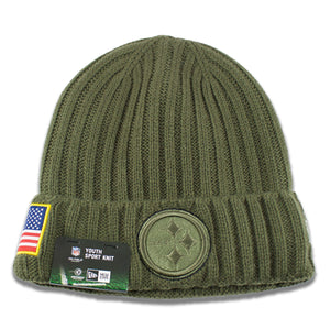 Pittsburgh Steelers 2017 Salute To Service Junior Youth-Sized Winter Knit Beanie