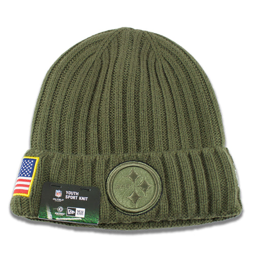 0b25b2f2190 Pittsburgh Steelers 2017 Salute To Service Junior Youth-Sized Winter Knit  Beanie