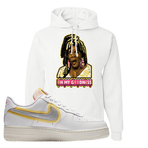 Air Force 1 Low 07 LX White Gold Hoodie | Oh My Goodness, White