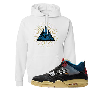 Union LA x Air Jordan 4 Off Noir Hoodie | All Seeing Eye, White