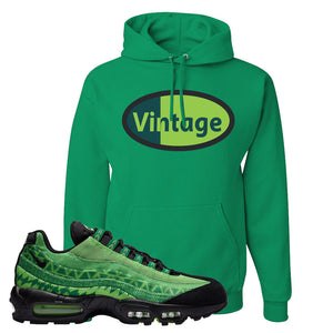 Air Max 95 Naija Hoodie | Vintage Oval, Kelly Green