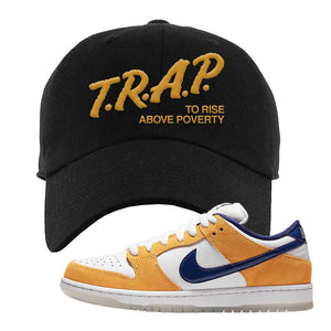 SB Dunk Low Laser Orange Dad Hat | Black, Trap To Rise Above Poverty
