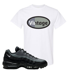 Air Max 95 Black Smoke Grey T Shirt | Vintage Oval, White