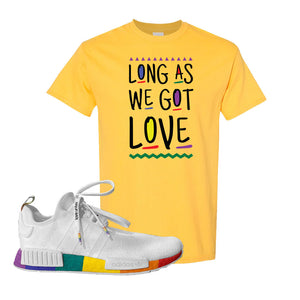 NMD R1 Pride T Shirt | Daisy, Long As We Got Love