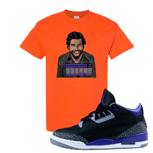 Air Jordan 3 Court Purple T Shirt | Escobar Illustration, Orange