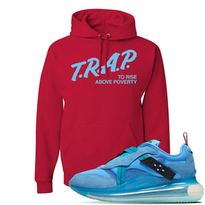 Air Max 720 OBJ Slip Light Blue Hoodie | Red, Trap To Rise Above Poverty